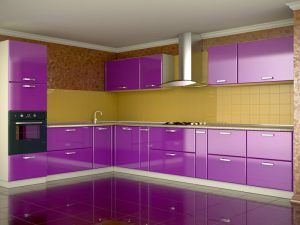 Contemporary Purple Kitchen