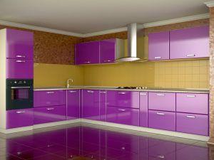 Contemporary Purple Kitchen