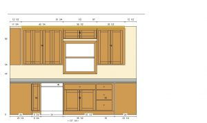 Flat Panel Oak Elevation 2