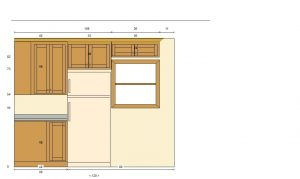Flat Panel Oak Kitchen Render Elevation 3