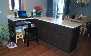 Kitchen Peninsula Desk