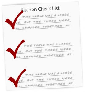 Kitchen Remodel Check List