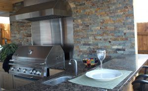 Outdoor Sink Countertop Grill