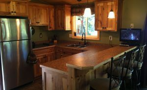 Rustic Hickorey Cabinets